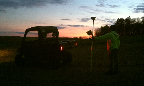Courtney & Knapp Land Surveying Working At Night